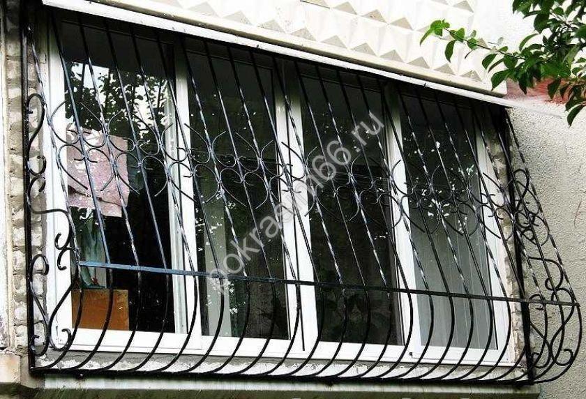 Изготовление решётки на окна своими руками - чертежи и фото .
